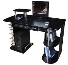 Small Black Corner Computer Desk Furniture Black Desk With Drawers Black Glass Computer Desk