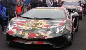 camo lamborghini afrojack pulled over in his lamborghini aventador sv