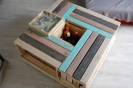 Table En Caisse En Bois Les Tables De Salon En Bois De Palette Meubles En Bois De Palette