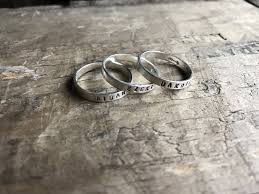 rings with children s names 3 rings personalized rings womens sterling silver