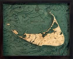 nantucket massachusetts 3 d nautical wood chart small 16