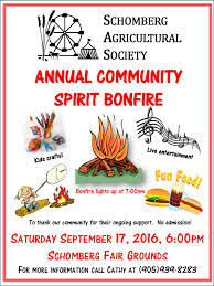 schomberg fair u2013 annual community spirit bonfire 2016