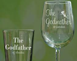 godmother wine glass custom engraved godmother wine glass godfather mug set