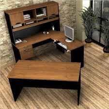 bestar innova u shaped workstation desk bestar innova u shaped workstation kit tuscany brown and black by