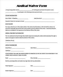 sample medical waiver form salon waiver form hxulhdj waiver