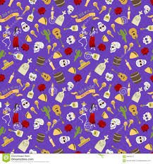 halloween background patterns colorful symbols for dia de los muertos day of the dead day vector