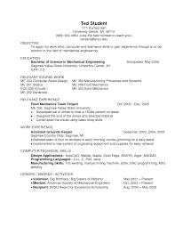 Sle Resume For Mechanical Engineer Cover Letter Mechanical Engineering Sle Resume Mechanical