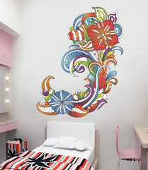 wall decals stickers home decor home furniture diy ced370 full color wall decal sticker abstract colors living room bedroom