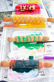 make your own wrapping paper 4 ideas for rolling pin printing