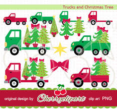 truck with christmas tree clip art 20