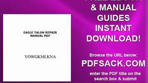 eagle talon repair manual pdf video dailymotion