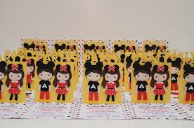 mickey and minnie party invitations for twins jingvitations