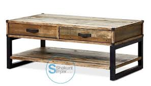 reclaimed wood coffee table with wheels industrial reclaimed wood coffee table with drawers industrial