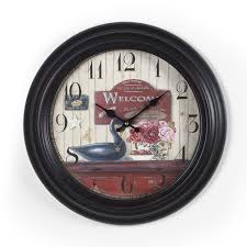 adecoblack and brown dial decorative vintage retro traditional