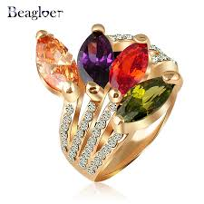 aliexpress buy beagloer new arrival ring gold aliexpress buy beagloer wholesale fashion leaf shape