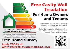 free home free cavity wall insulation grants from the eco scheme