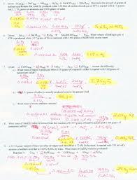 limiting reactant problems worksheet worksheets