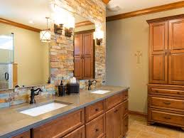 Modern Double Vanity Bathroom by In This Rustic Contemporary Master Bathroom Mini Mosaic Tile