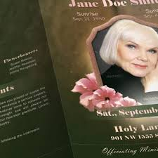 Funeral Program Ideas Funeral Poster Templates Funeral Invitation Template Best