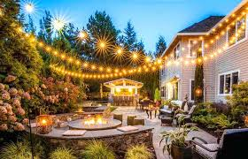 custom led string lights custom string lights patio exterior remodeling brighten up your with