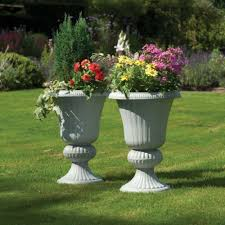 greenhurst imperial urn planters pack of two garden street