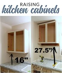 kitchen cabinet height from countertop genius diy raising kitchen cabinets and adding an open