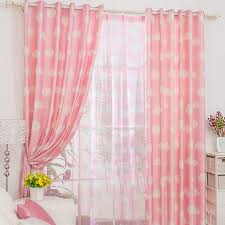 Casual Clouds Patterned Good Girls Pink Curtains - Room darkening curtains for kids