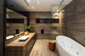 modern bathroom among neutral color earthy tones backdrop also