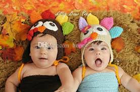 baby thanksgiving hat turkey beanie animal hat baby boys winter cap handmade