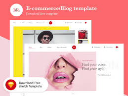 e commerce blog template freebie download sketch resource