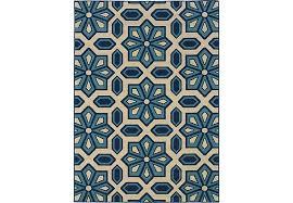 7 X 9 Outdoor Rug Marisela Blue 6 7 X 9 6 Indoor Outdoor Rug Rugs Blue