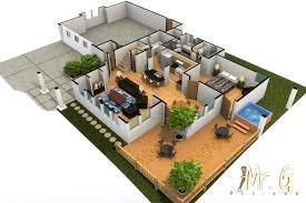 modern house interior floor plan 4 awesome idea 3d floor plans
