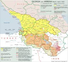 Map Of Armenia Georgia And Armenia 1920 By Vah Vah On Deviantart