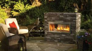 patio with furniture and modern outdoor fireplace an outdoor