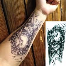 3d transfer chest clock tattoos for temporary
