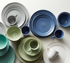 cambria 16 dinnerware set blue pottery barn