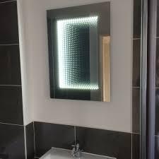 bathroom infinity mirror new flat in sevenoaks new wave electrical