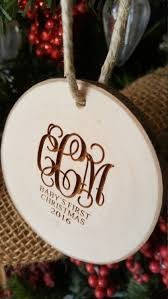 baby u0027s first christmas ornament monogram ornament engraved