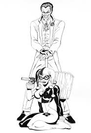 batman joker coloring pages joker and harley commission by eso2001 d32ffg2 jpg 741 1078
