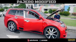 mitsubishi pajero sport modified pajero sport modified vip style with chrome 24 inch wheels youtube