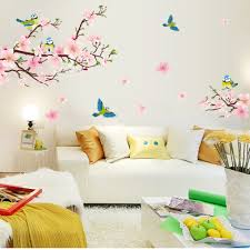 compare prices on cherry home furniture online shopping buy low 3d cherry blossom wall decal home decor removable wall pictures for living room home decor wall