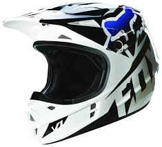 black motocross gear fox racing v1 race helmet revzilla