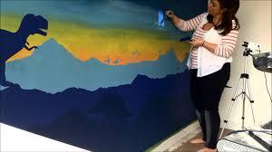 dinosaur wall mural world of wall craft youtube dinosaur wall mural world of wall craft