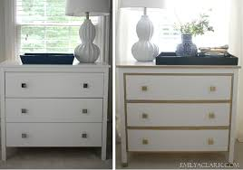 Ikea Hemnes Nightstand Blue Our White U0026 Gold Ikea Nightstand Makeover Emily A Clark