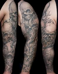 Skull Arm - best 25 skull sleeve tattoos ideas on skull sleeve
