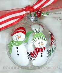 snowman personalized ornament handpainted with berries