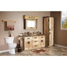 Rustic Bathroom Vanities And Sinks - real hickory rustic bathroom vanity 48