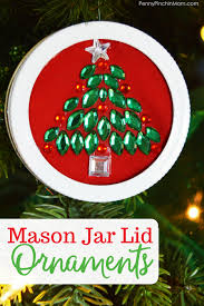 jar lid ornaments easy craft for and adults