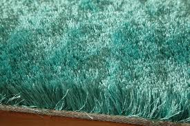 Shag Rug District17 Luster Shag Rug In Teal Solid Rugs Shag Rugs