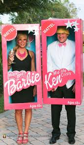Deguisement Couple Rigolo by Middle Aged Barbie And Mid Life Crisis Ken Couple Costume